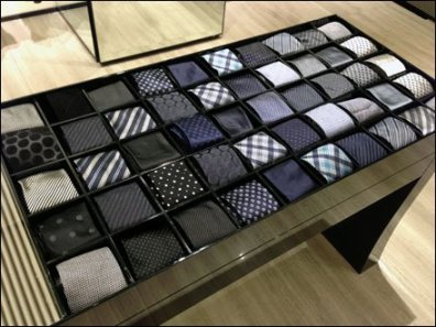 Armani Necktie Periodic Table Display