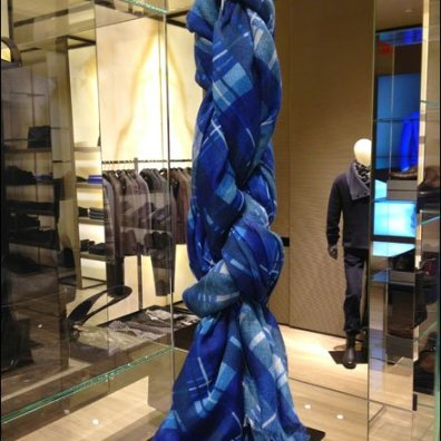 Armani Ties a Scraf Knot Retail Display