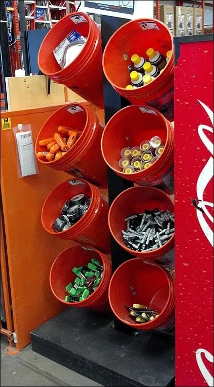 Buckets As Merchandising Bulk Bins