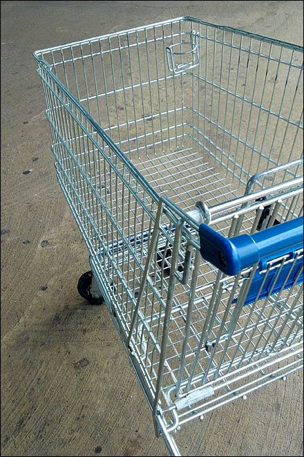 Shopping Cart Cup Holder Cuts Caffeine