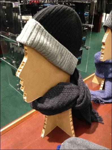 Corrugated Hat Headform Main