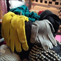 Gloves Overflow Glass Container Aux