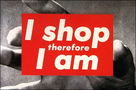 """""""I Shop Therefore I Am"""" Snowclone"""