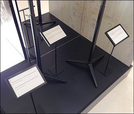 Dior Table Stands Signs Are Floored