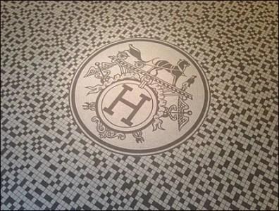 Hermes Store Entry Mozaic Tile Logo