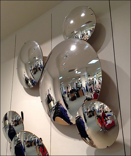 Convex Anti-Theft Mirror or Wall Art