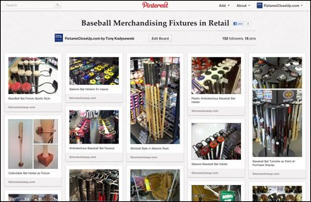 Baseball Merchandising Fixtures in Retail
