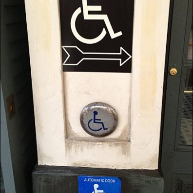Handicapped Not Blind Triple Sign