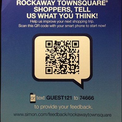 Rockaway Townsquare Mall QR Detail