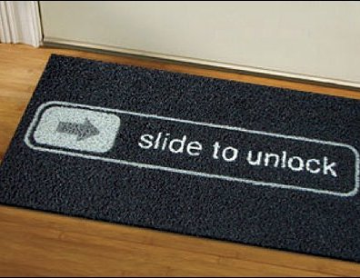 Slide to Unlock Doormat1