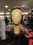 Headphone Head Form in Wood