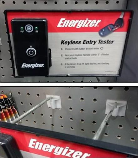 Car Keyless Tester at Cashwrap
