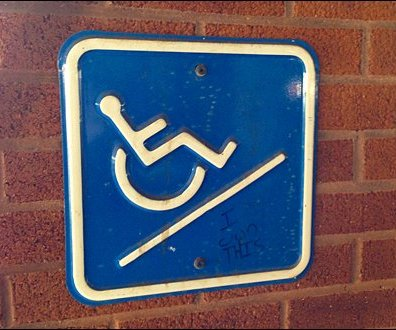 Handicapped Ramp Sign Overall