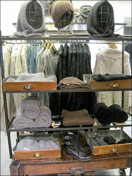 Wood Drawers as D.I.Y. Retail Display Tray