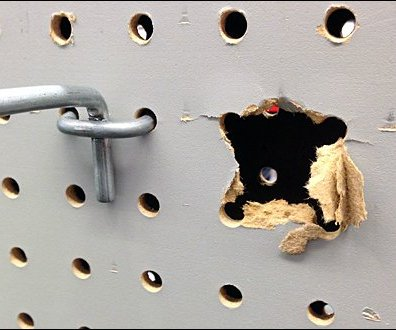 Pegboard Tear Out Failure