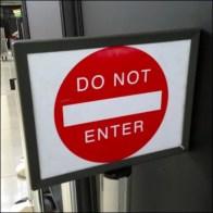 Do Not Enter Main