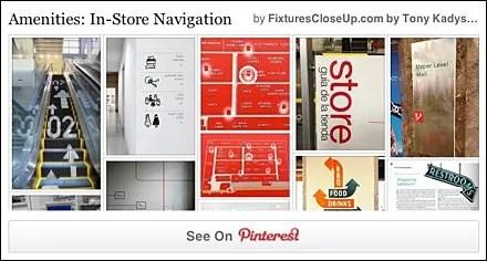 In-Store Navigation and Wayfinding Pinterest Board for FixturesCloseUp