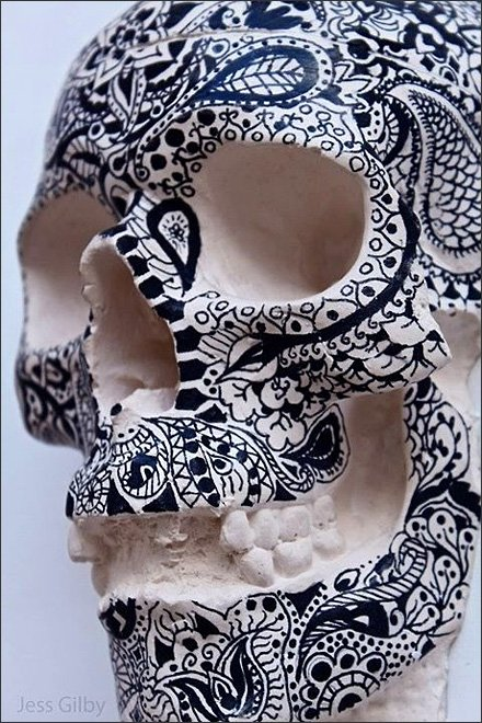 Tattoo Parlor Visual Merchandising - Inked Skull by Jess Gilby. See more at jayjais.blogspot.co.uk