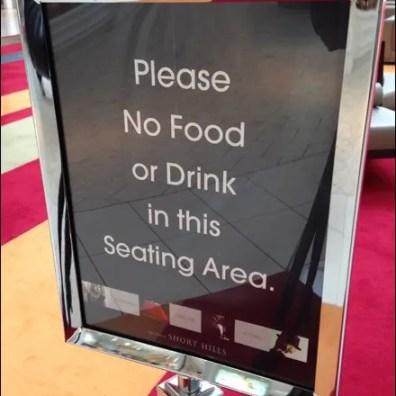 No Food or Drink CloseUp