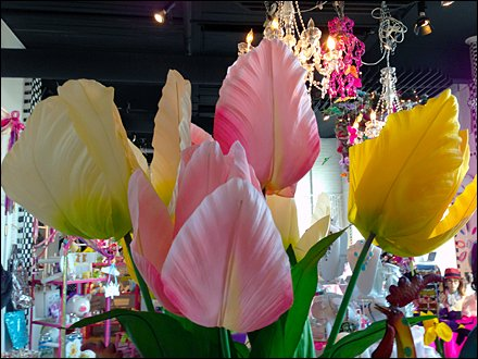 Spring Flowers Shop Merchandising Closeup
