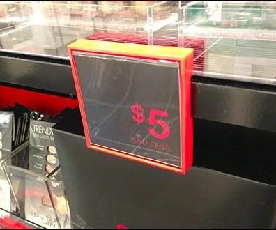 Bar-Mount Plastic Sign Holder Main