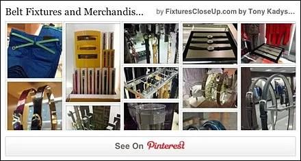 Belt Fixtures and Merchandising Pinterest Board for FixturesCloseUp