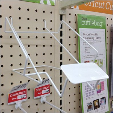 Canted Wire Tray for Pegboard