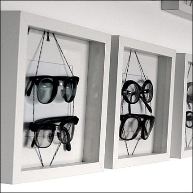 Eyewear in Shadowbox Frames Closeup Main