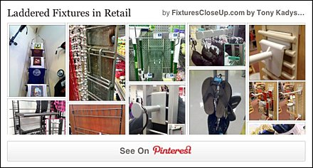 Ladder Fixtures in Retail Pinterest Board for FixturesCloseUp