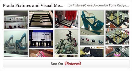 Prada Fixtures and Visual Merchandising on Fixtures Close Up Pinterest Board