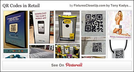 QR Codes and Social Media in Retail Pinterest Board for FixturesCloseUp