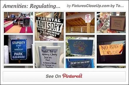 Regulating Retail Pinterest Board for Retail FixturesCloseUp