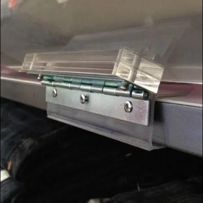 Short Piano Hinge Shelf-Edge Sign