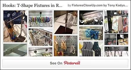T-Hook and T-Shape Fixtures in Retail FixturesCloseUp