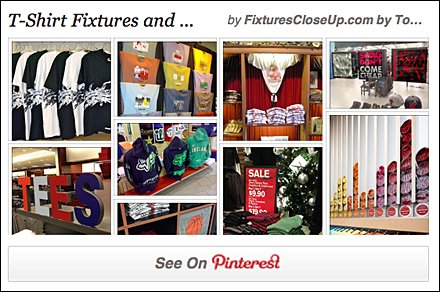 T-Shirt Fixtures and Merchandising Pinterest Board