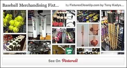 Baseball Merchandising Fixtures Pinterest Page for FixturesCloseUp