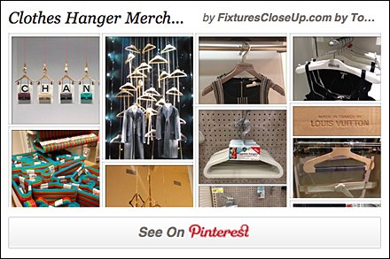 Clothes Hanger Display and Merchandising Pinterest Board