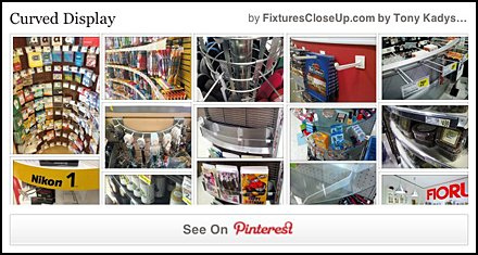 Curved Display Pinterest Board on Fixtures Close Up