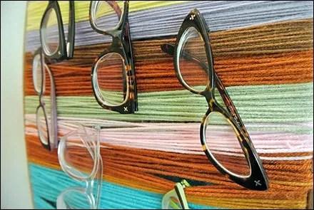 DIY Yarn Eyewear Display CloseUp