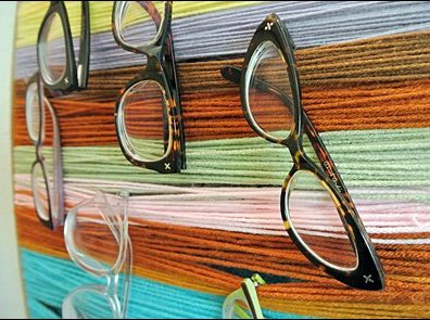 DIY Yarn Eyewear Display CloseUp