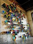 Paint Cans as Visual Merchandising For Retail