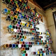 Empty Paint Can Color Display Overall