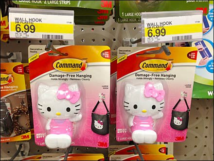 Hello Kitty Command Strip on Peg Hook Main