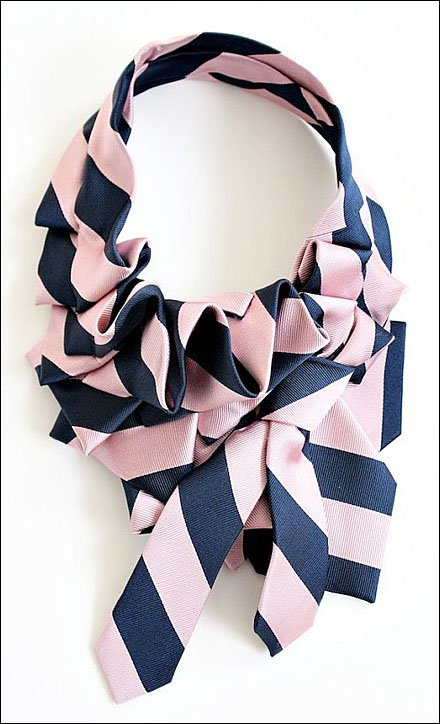 Necktie Ruff Doubles Tie Sales - Katherine Necktie Ruff in Pink Schoolyard by lilianasterfield