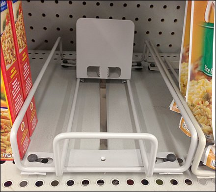 Fixed-Width Wire Tray Merchandising