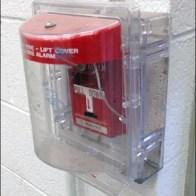 Plastic Fire Alarm Security Cover Aux