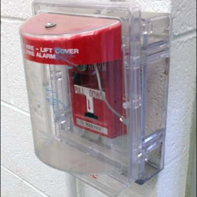 Plastic Fire Alarm Security Cover Aux