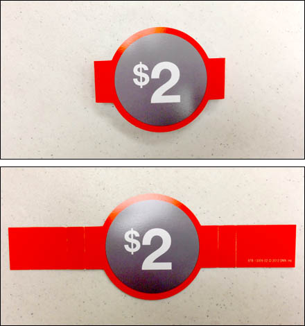 Price Bellyband Flat Folded Detail