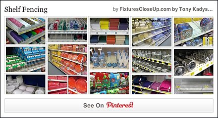 Shelf Fencing Pinterest Board on Fixtures Close Up
