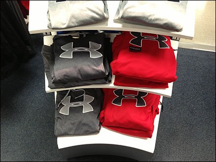 Under Armour Concave Display Shelf